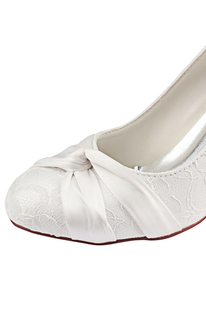 Ivory High Heels Wedding Shoes, Charming Wedding Party Shoes, Lace Woman Shoes L-926
