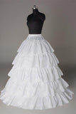 Fashion Wedding Petticoat Accessories 5 layers White Floor Length Underskirt P008
