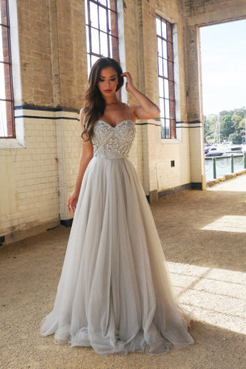 New Arrival Sweetheart Prom Dress,A-Line Prom Dresses,Spaghetti Straps Prom Gown,Floor-Length Prom Dress with Beading,Long Formal Dress,Sleeveless Tulle Prom Dress,N103