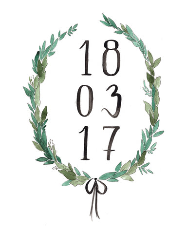 Custom Date Wreath
