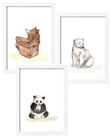 3 Bears Watercolor - Combo