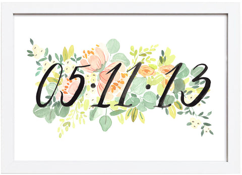 Custom Painted Anniversary Date