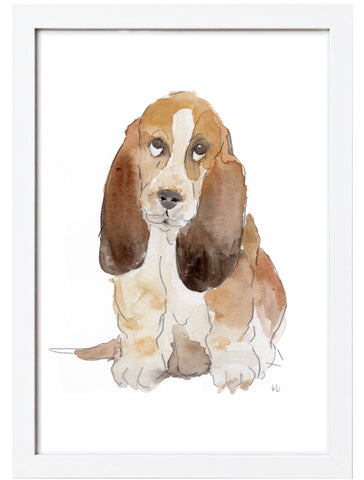 Brown Dog Watercolor