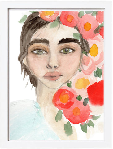 Flower Girl Watercolor