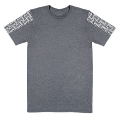 Patterned Sleeve T-Shirt Grey