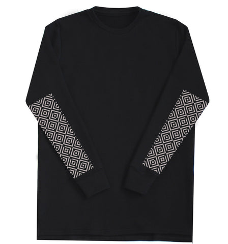 Signature Patchwork Sweater Black
