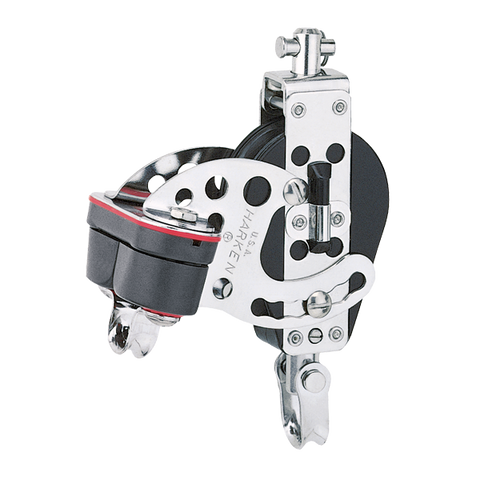 "[HK-193] HARKEN  2.25"" Hexa-Cat Base Block — Swivel, Cam Cleat"