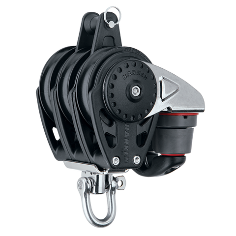 [HK-2618] HARKEN  57 mm Triple Block — Swivel, Becket, Cam Cleat