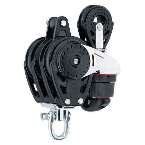 [HK-2632] HARKEN  57 mm Triple Ratchamatic® Block — Swivel, Cam Cleat, 40 mm Block