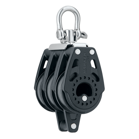 [HK-2641] HARKEN  40 mm Triple Block — Swivel, Becket