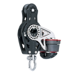 [HK-2696] HARKEN  75 mm Fiddle Ratchet Block — Swivel, Cam Cleat