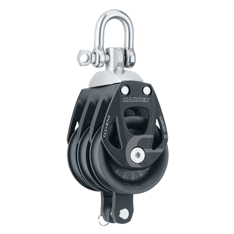 [HK-6241] HARKEN  45 mm Aluminum Element Triple Block — Swivel, Becket