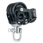 [HK-6242] HARKEN  45 mm Aluminum Element Triple Block — Swivel, Cam Cleat