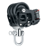 [HK-6274] HARKEN  60 mm Aluminum Element Triple Block — Swivel, Cam Cleat
