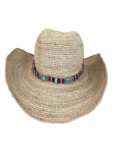 Iridescent Sea Raffia Hat - Mexicana