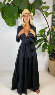 Hotel Fonda Dress in Black