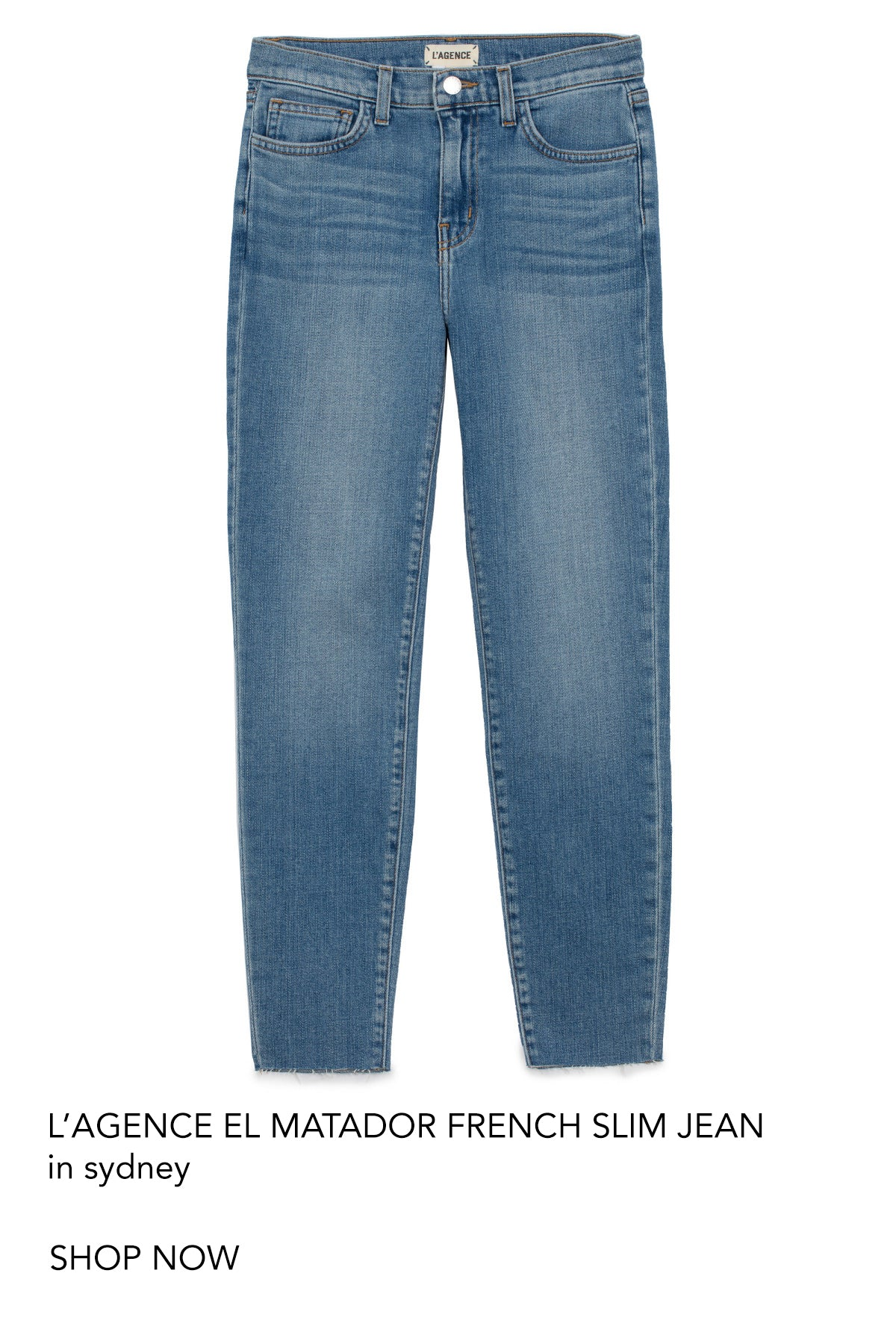 l'agence el matador slim jean denim perth australia fashion iridescent sea beach house