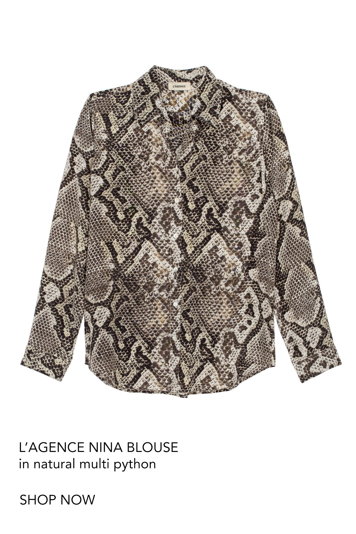 L'agence nina blouse python silk cottesloe perth australia fashion iridescent sea beach house