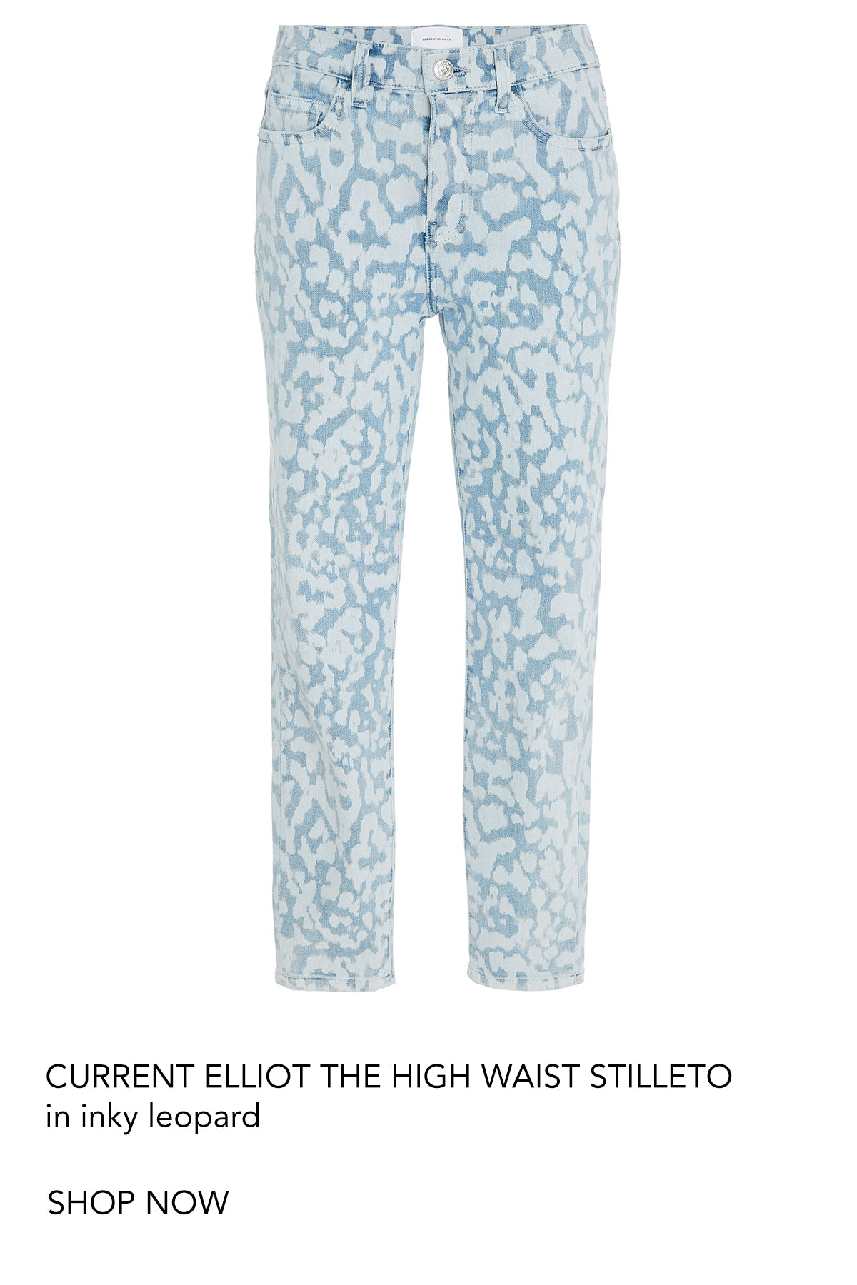 current elliot high waist stilleto inky leopard denim jean perth australia fashion iridescent sea beach house