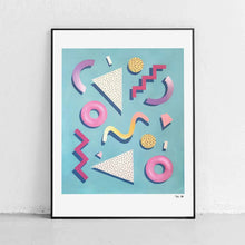 "Load image into Gallery viewer, ""Memphis Structure"" Art Print by Mariah Birsak"