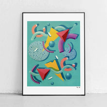 "Load image into Gallery viewer, ""Memphis Swirl"" Art Print by Mariah Birsak"