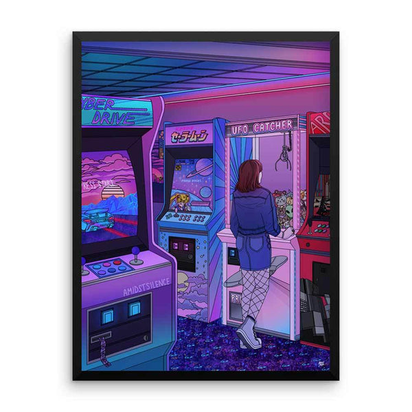 """Arcade"" Art Print by Kelsey Smith. Limited Editon."