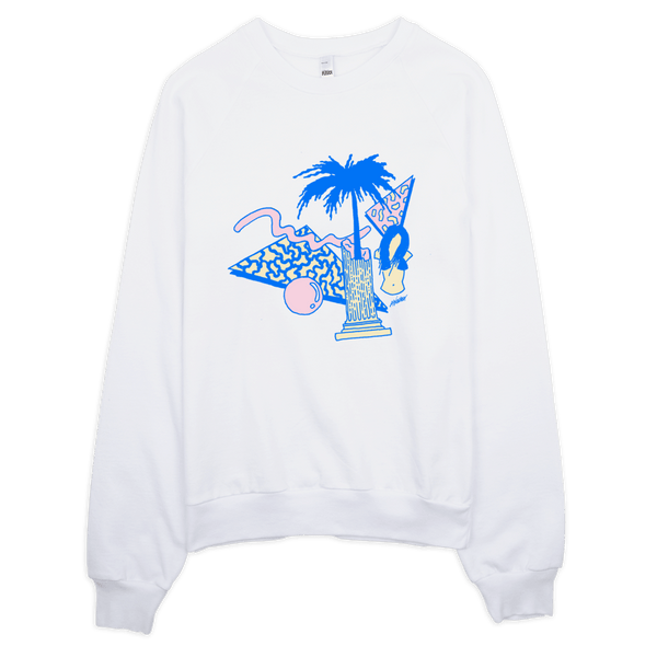 "Andrew Walker Sweatshirt ""Blue Dreams"" White"