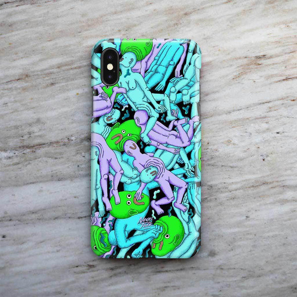 """Dreamy Swim"" Blue Phone Case by Alex Gamsu Jenkins"