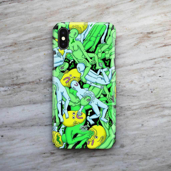 """Dreamy Swim"" Lime Phone Case by Alex Gamsu Jenkins"