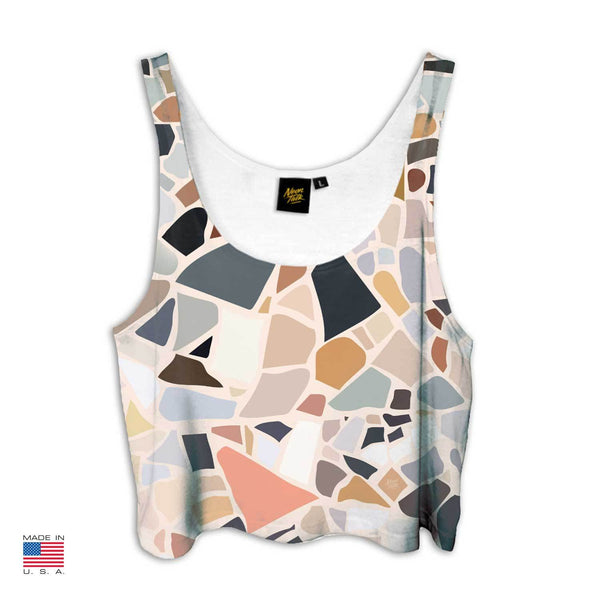 """Terrazzo"" Crop Top by Charlotte Taylor"