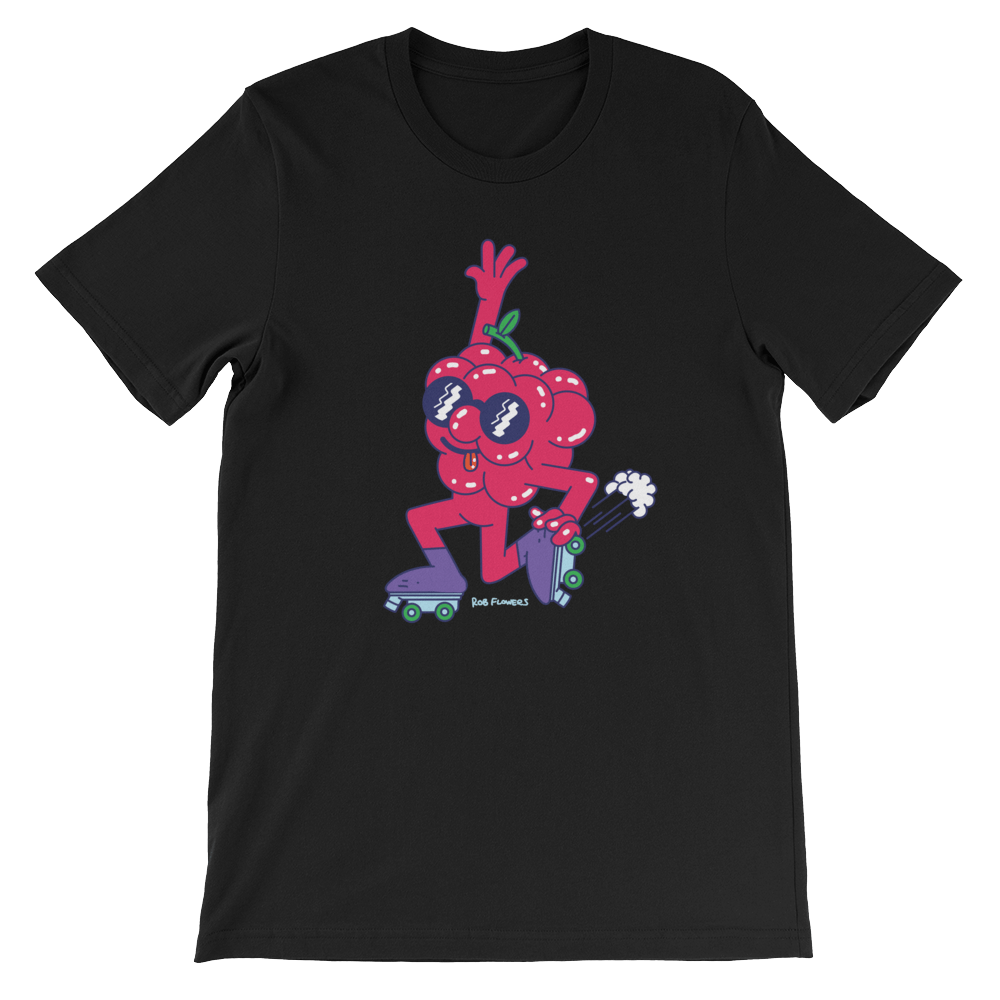 T-shirt Rob Flowers RASPBERRY LIFE (Front print)