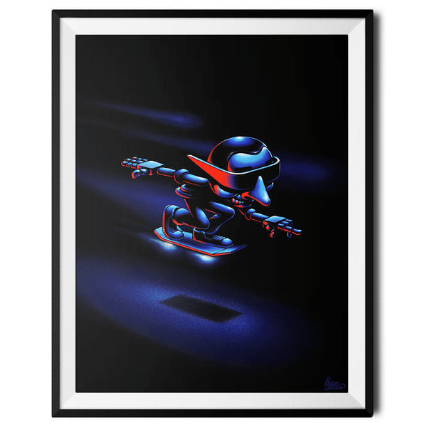 """Hover Boarder no. 1"" Large Art Print by Mattias Lindström"