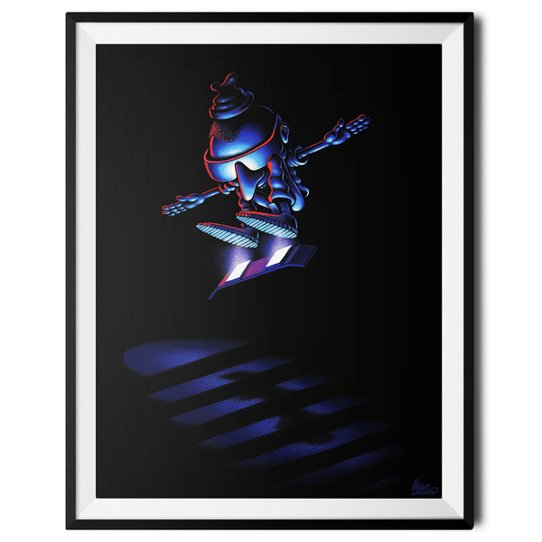"""Hover Boarder no. 2"" Large Art Print by Mattias Lindström"