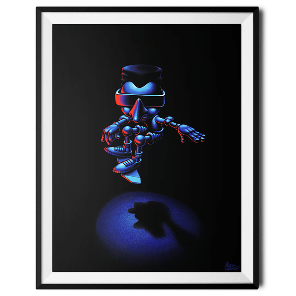 """Hover Boarder no. 3"" Large Art Print by Mattias Lindström"