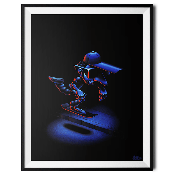 """Hover Boarder no. 4"" Large Art Print by Mattias Lindström"