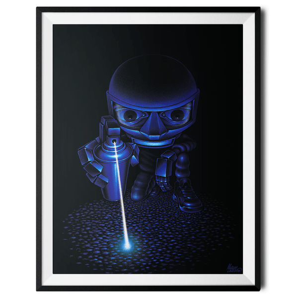"""Laser Spray"" Large Art Print by Mattias Lindström"