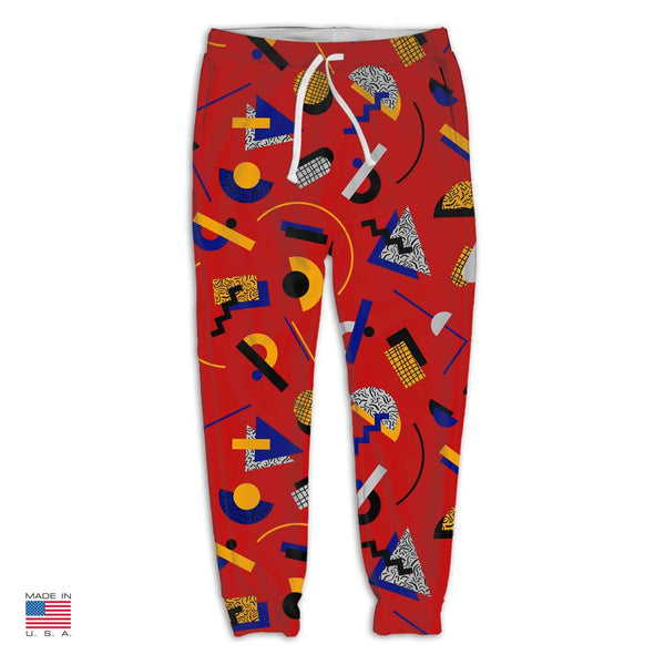"""Memphis Pop"" Red Joggers by Hanna Kastl-Lungberg"