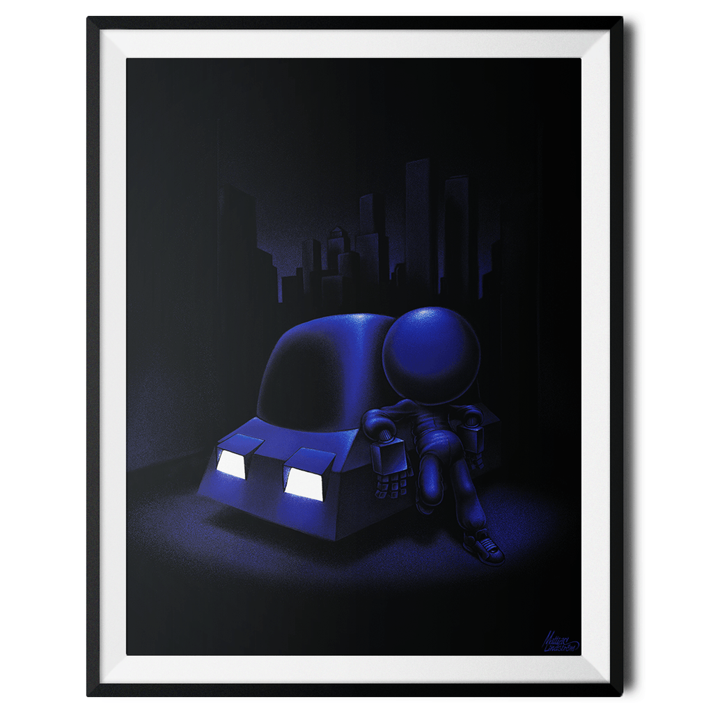 """Night Ride"" Large Art Print by Mattias Lindström"