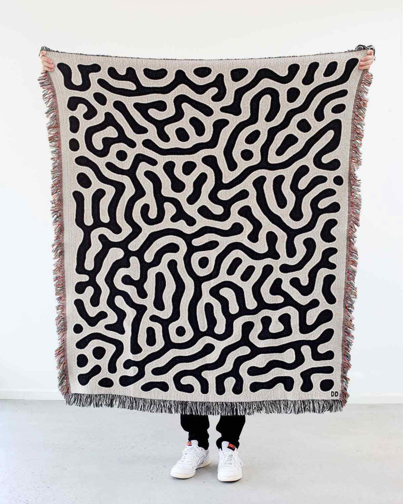 """Coral"" Woven Art Blanket by Adrià Molins"