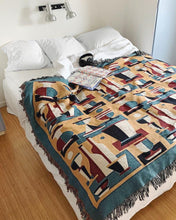 "Load image into Gallery viewer, ""Repeat Cocktail"" Woven Bed Cover by Jacco Bunt"