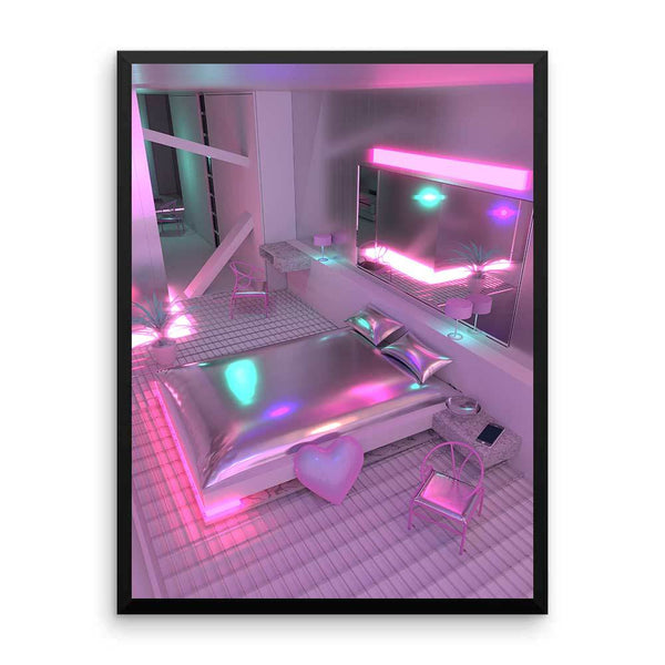 "New! ""Neon Love Room"" Jess Audrey  Art Print. Limited Edition"