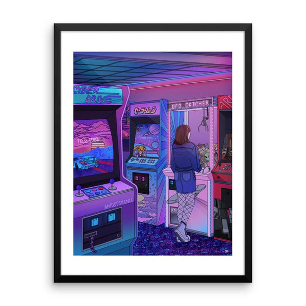 "NEW! ""Arcade"" Art Print by Kelsey Smith. Limited Editon. With border"