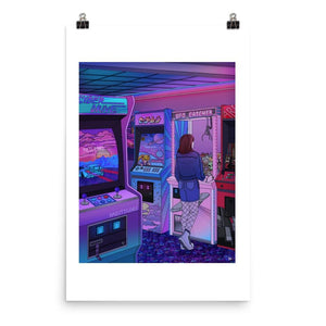 """Arcade"" Art Print by Kelsey Smith / Amidstsilence. Limited Editon. With border"
