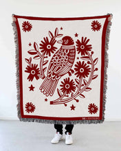 "Load image into Gallery viewer, ""Bird Nest"" Woven Art Blanket by Asis Percales"