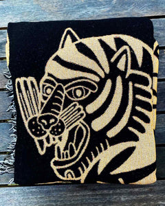 """Tiger Loop"" Woven Art Blanket by Asis Percales"