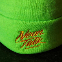 Load image into Gallery viewer, Neon Talk Knit Beanie. Neon Lime