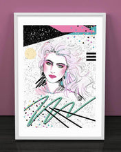 "Load image into Gallery viewer, ""Brooke Shields"" Art Print by Mizucat"