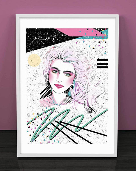 """Brooke Shields"" Art Print by Mizucat"