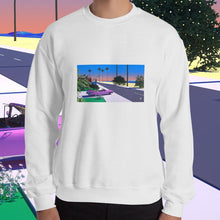 "Load image into Gallery viewer, ""Tropical Transit"" Unisex Sweatshirt by Trey Trimble"