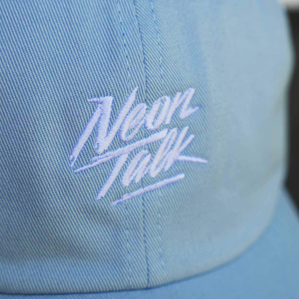Neon Talk Cap. Blue Pastel